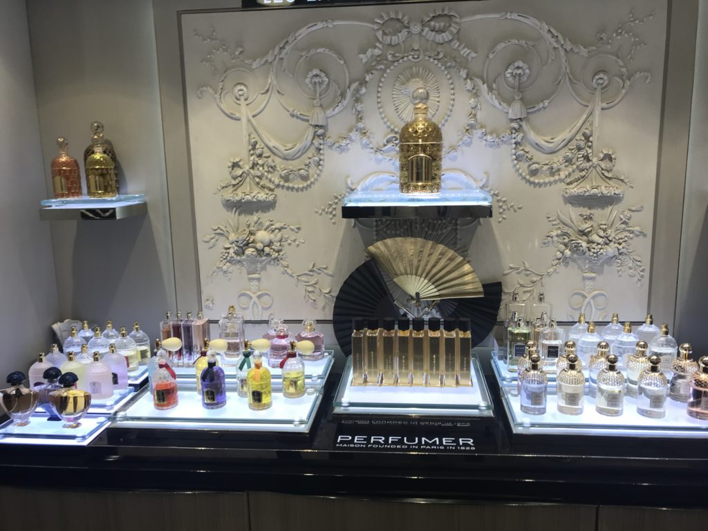 Guerlain counter at Bergdorf Goodman
