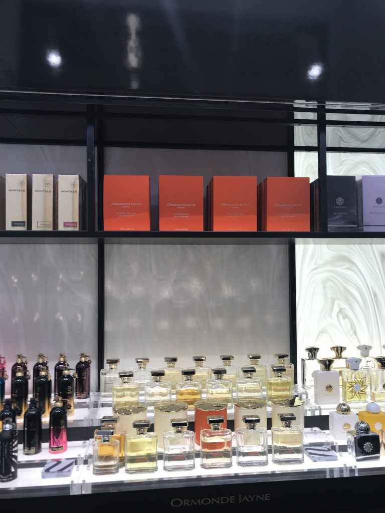 perfume counter Saks Fifth Avenue