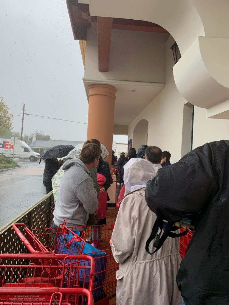 outside Trader Joe's